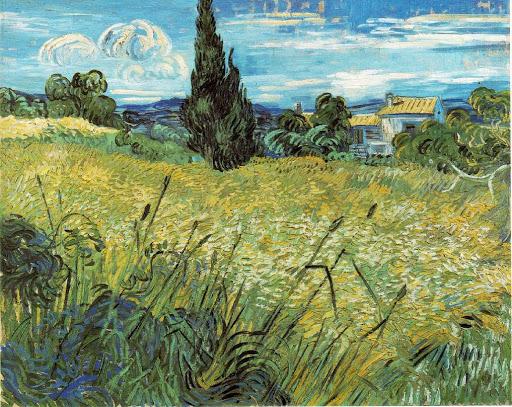 Vincent Van Gogh – Le champ de blé vert avec cyprès